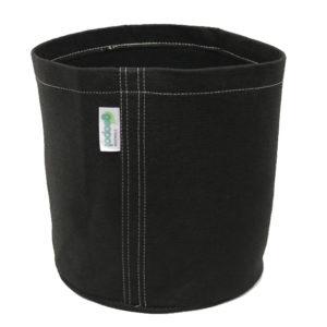 The vase-like shape of the GeoPot Round Bottom Fabric Pot helps showcase decorative plants
